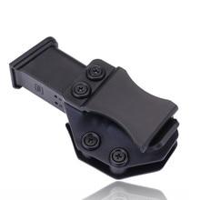 Kemer İçinde IWB Kydex Dergisi Taşıyıcı Mag Kılıf Için Özel Glock 19 23 26 27 32 Gizli 9mm Tabanca Tabanca Kılıfı