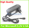Para microsoft surface 3 tablet pc carregador 5.2 v 2.5a 13 w adaptador de energia micro usb conector plug ue