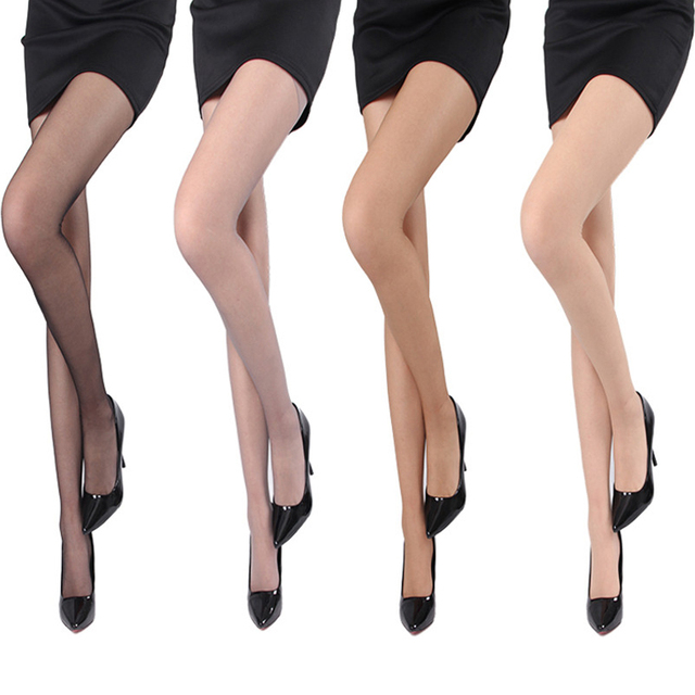 688983be5d8 1PCS 4 Colors Sexy Sheer Body Sculpting Tights Women s Open Toe Pantyhose  Through Flesh-colored Hosiery