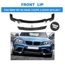 Углеродного волокна передний бампер спойлер для BMW F87 M2 База купе 2 двери 2016 2017 В Sytle стайлинга автомобилей