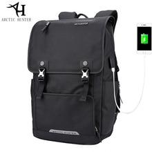 ARCTIC HUNTER USB Charge Port font b Backpack b font Large Capacity Laptop font b Backpack
