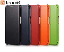 Luxury Real Leather flio Cover Wallet Flip Genuine Leather Case For Samsung Galaxy S6 Edge Original Icarer phone bag & case capa