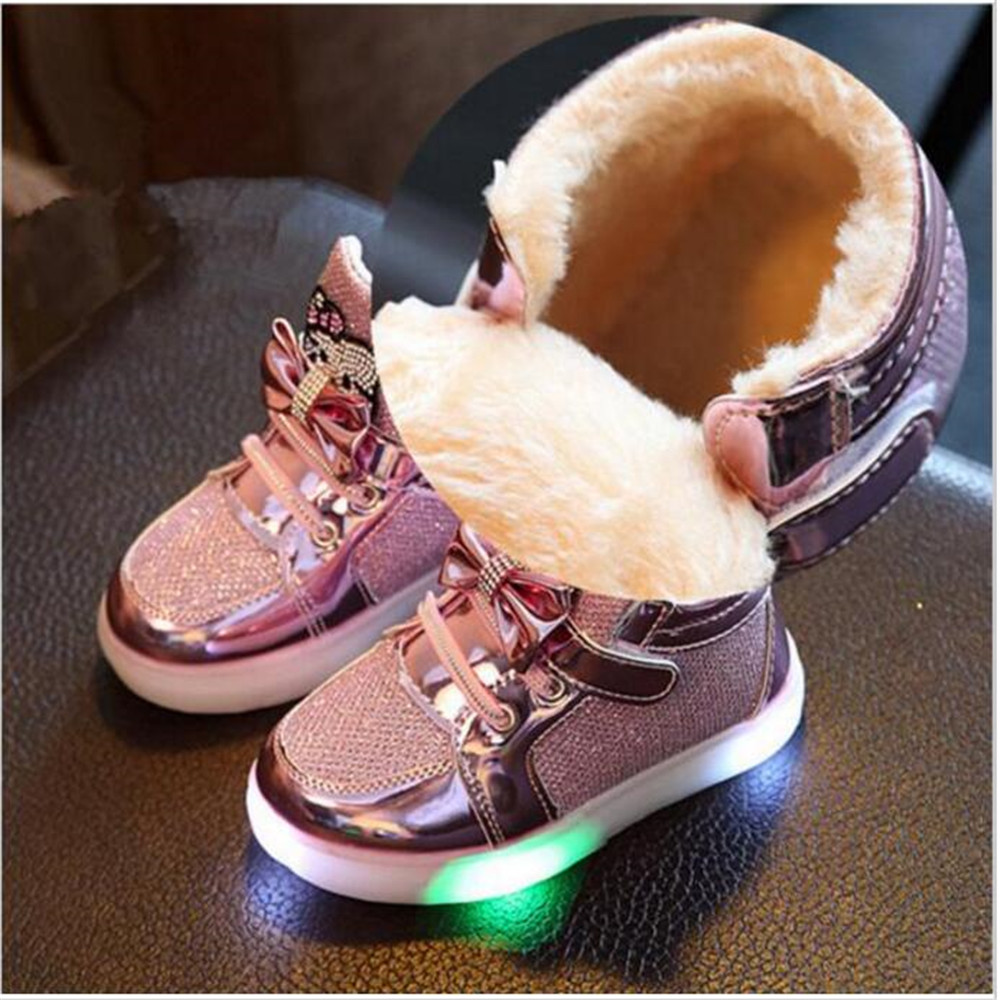 子供のワレメ 女の子のブーツ2016ホットslae冬子供のファッションスニーカー子供靴でライトブーツ