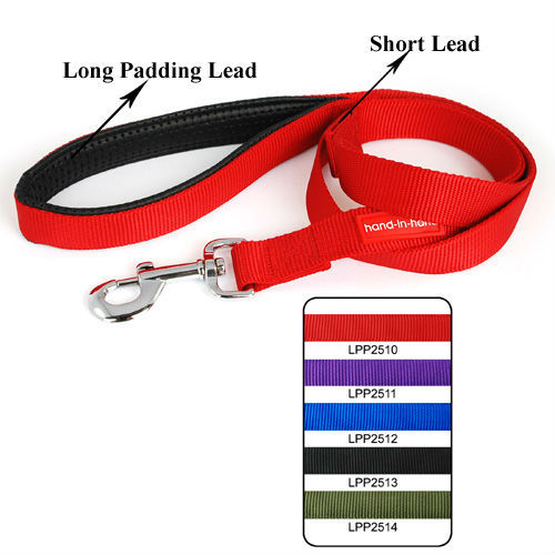 2.5cm Lively Pet Dog Padded Dual-Use Lead (5 colors) 5 pcs/lot Free shipping LPP2510