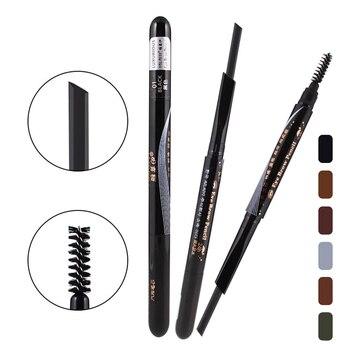 1PC Women Double-end Long-lasting Waterproof Eyebrow Eyeliner Pencil Brush Cosmetic Tools  Brush Black/Brown/Coffee/Grey Makeup