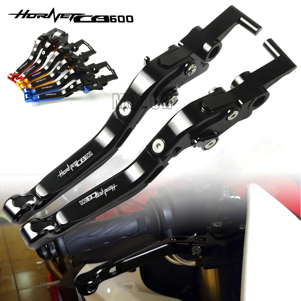 Leviers d'embrayage de frein pliants réglables en aluminium de CNC de moto pour Honda CB599/CB600 HORHET/CB500F 1998-2006 CB 599/600/500F