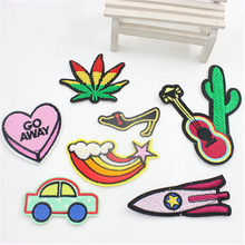 7PCs Mixed Patches For Clothing Iron On Embroidered Appliques DIY Apparel Accessories Patches For Clothing Fabric Badges все цены