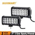 "Auxmart CREE Chips 72W 7"" Flood Spot Beam ATV LED Work Light Offroad Light Bar Headlight SUV 4WD 4X4 Driving Fog Lamp 12v 24v"