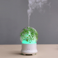 100ML Ultrasonic Aroma Diffuser Air Humidifier Creative Eternal Flowers Home Office Mini Atomizer Humidifiers With LED