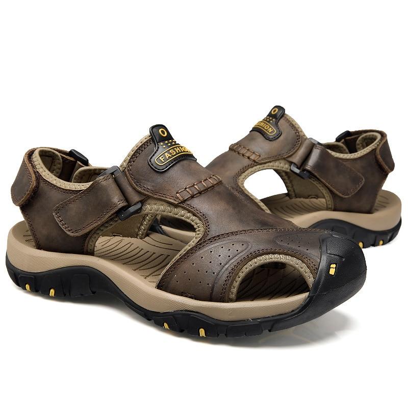 Viihahn sandalias para hombre de cuero genuino verano 2017 nuevos - Zapatos de hombre - foto 5