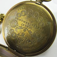 Старинные карманные часы C080 с двойным чехлом турбийоном MoonPhase