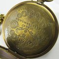 Старый Античная Двухместный Обложка Tourbillon MoonPhase Карманные Часы