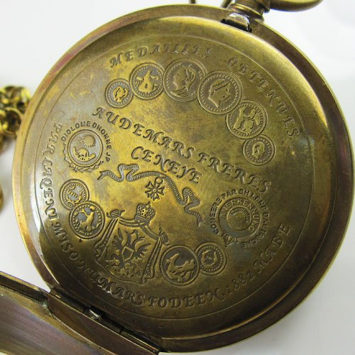 Old Antique Double Cover Tourbillon MoonPhase Pocket Watch C080