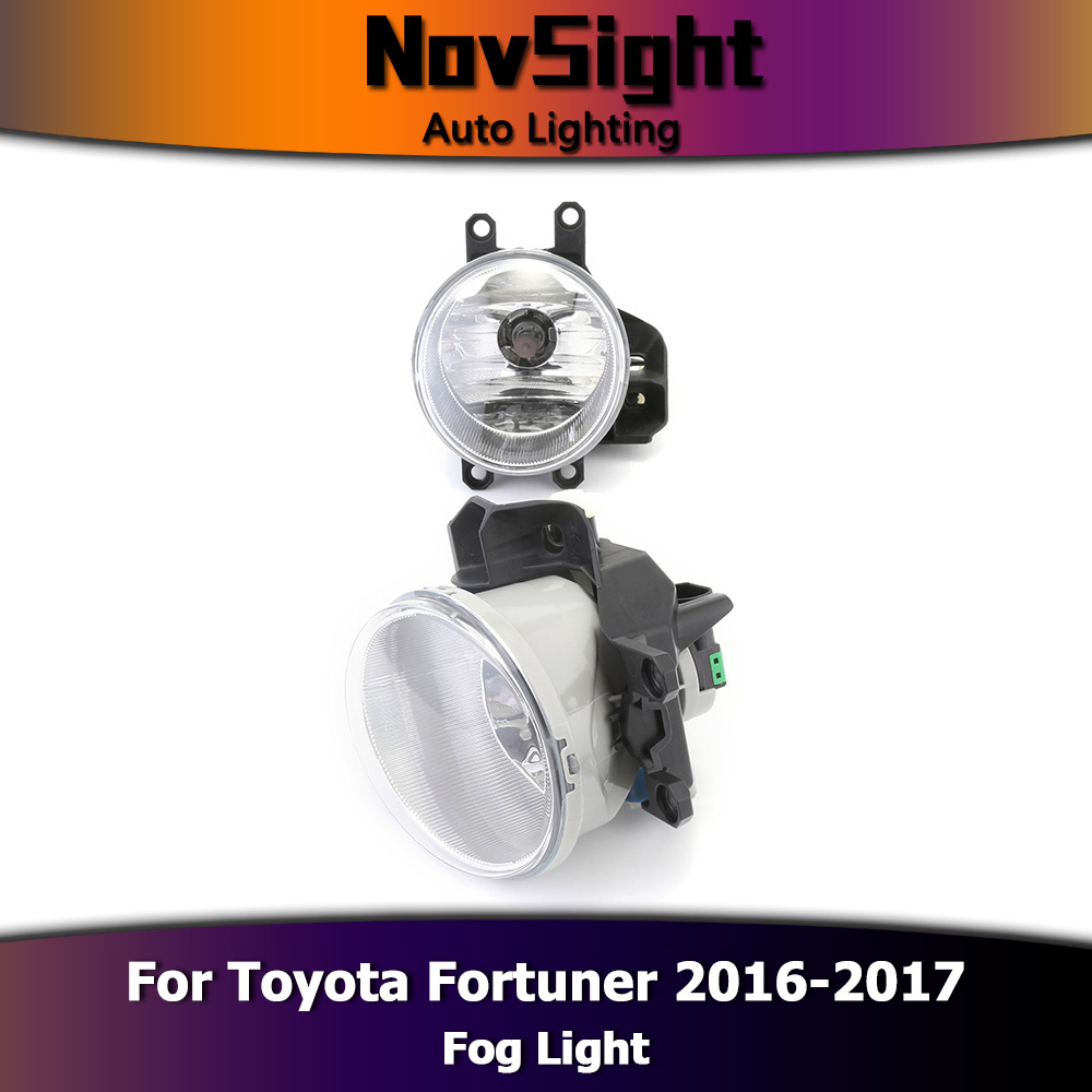 Novsight Auto Car Fog Lights Driving Lamp Assembly Halogen Bulbs Toyota Fortuner Fuse Box Location Drl For 2016 2017 D35 In Light From Automobiles