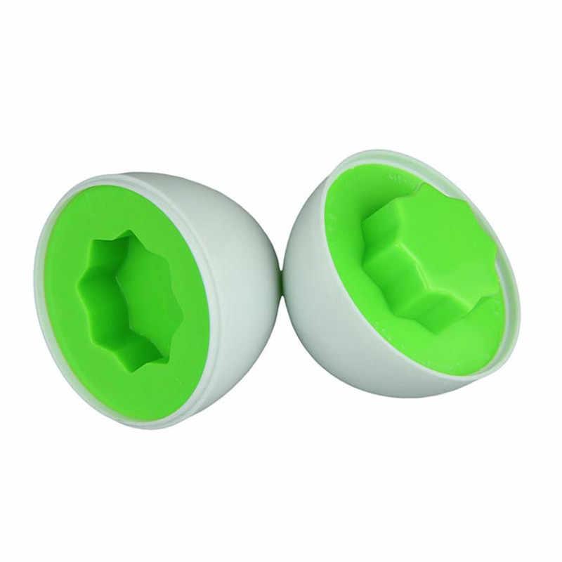 Fulljion Belajar Pendidikan Mainan 6 Smart Telur/Set Bijaksana Berpura-pura Bermain Campuran Bentuk Teka-teki untuk Anak-anak Mainan Anak-anak Alat permainan Otak