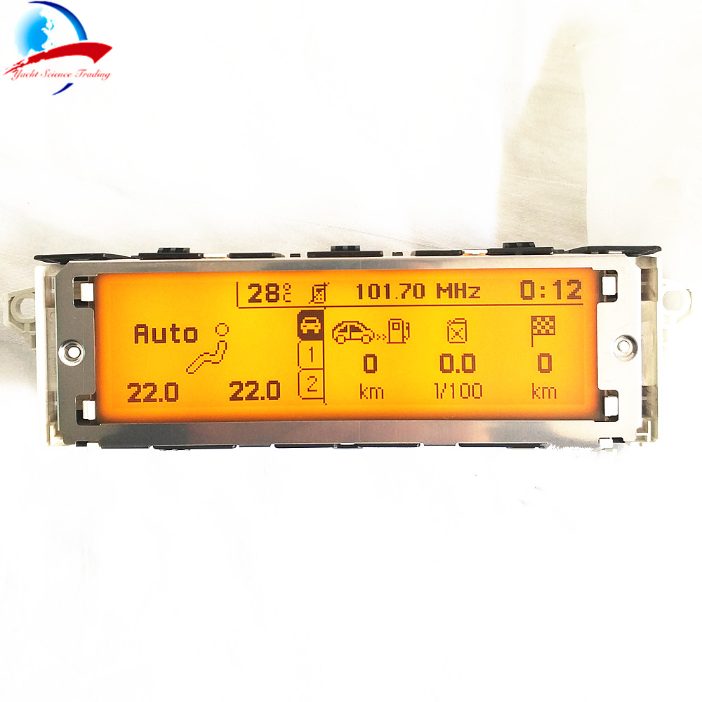12 Pin car Yellow screen support USB and Bluetooth 5 menu Display monitor for Peugeot 307