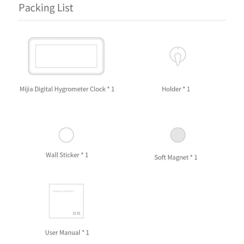 Image 5 - Original Xiaomi Mijia BT4.0 Wireless Smart Electric Digital clock  Outdoor Hygrometer Thermometer LCD Temperature Measuring ToolsSmart  Remote Control