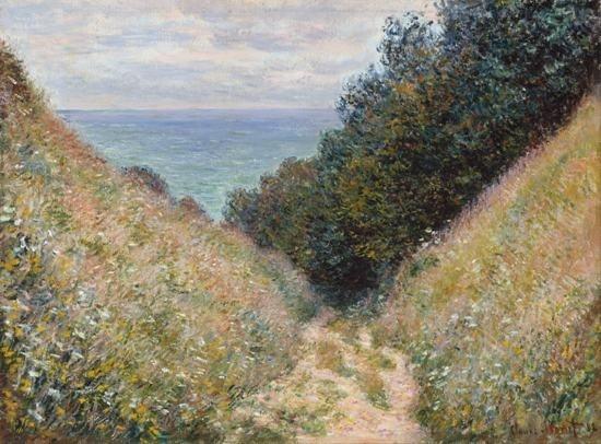 Gratis pengiriman Claude Monet Kanvas lukisan art dicetak Lukisan - Dekorasi rumah - Foto 1