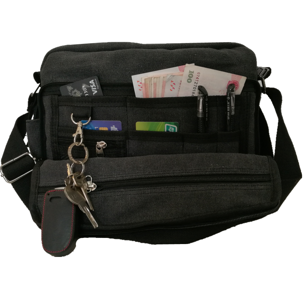 new fashion multi pocket luggage large capacity tote bag multi functional men women handbag