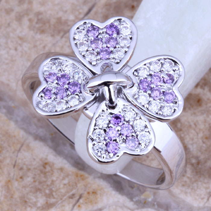 Fantasía púrpura amatista remolque con cadena de plata dorado