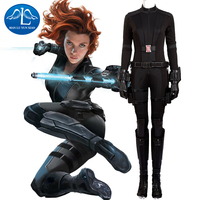 Captain America 3 Black Widow Costume Women Natasha Romanoff Cosplay Costume Halloween Costumes for Women Full Set Custom Made