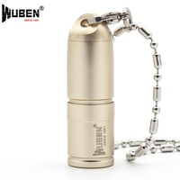 LED Flashlight Only 41mm Bright 130LM Small Torch LED Lamp With Necklace Portable Design Keychain Mini