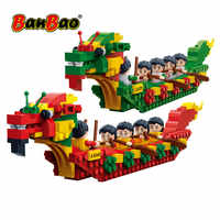 BanBao 6592 Dragon Boat Race Chinese Festival Culture Blocks Educational Building Bricks Model Toys Kids Children Gift