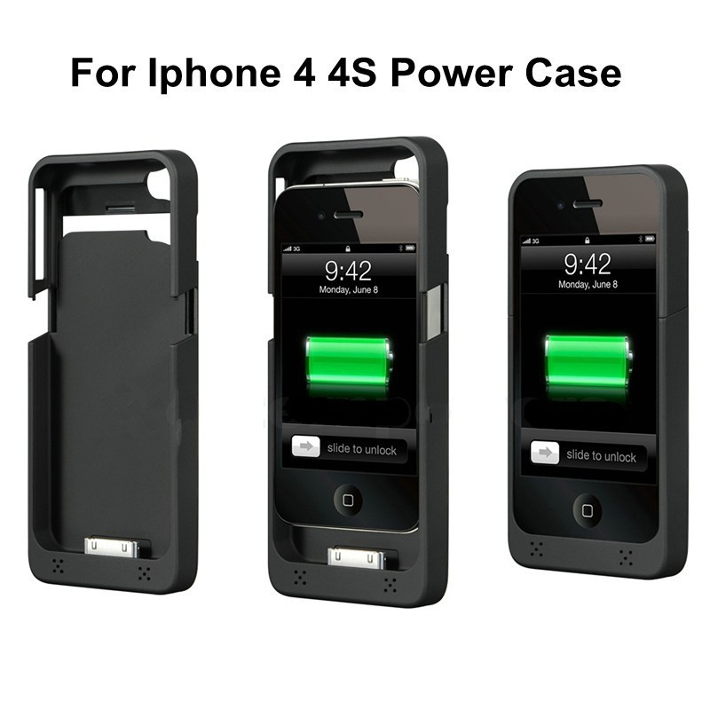 iphone 4s battery case 1900mah external battery charger for iphone 4 4s portable 14418