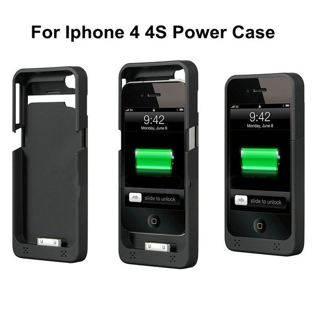 new concept fc59e e2dfb US $5.79 |1900mAh External Battery Charger for iphone 4 4S Portable Battery  Case Backup Charging Cases Battery Power Cover Charge-in Chargers from ...