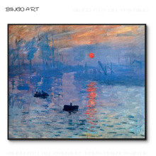 купить Professional Artist Hand-painted Beautiful Landscape Impression Sunrise Oil Painting on Canvas Cloud Monet Sunrise Oil Painting по цене 4838.6 рублей