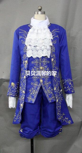 La belle et la bête déguisement Prince broderie Cosplay Adam film tenue Halloween hommes manteau Gentleman vêtements fête sur mesure