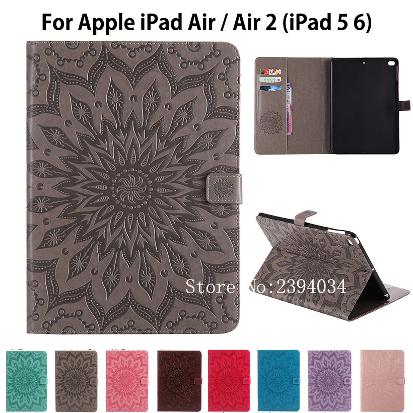 Fashion Tablet Cover For Apple iPad air air2 Case High quality PU Leather Stand Case For iPad 5 iPad 6 Cover Funda Skin Shell for apple ipad air 2 pu leather case luxury silk pattern stand smart cover