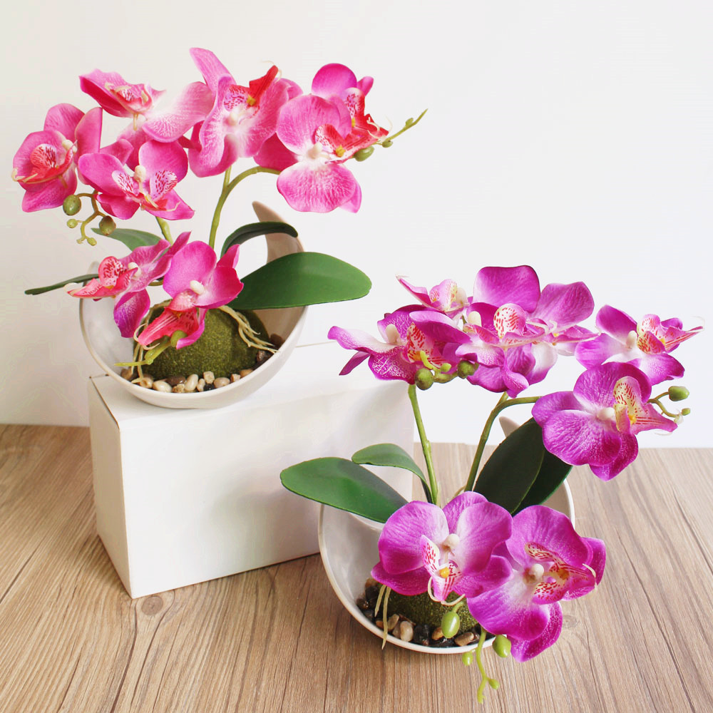 Trident phalaenopsis creative bonsai simulation flower manufacturers trident phalaenopsis creative bonsai simulation flower manufacturers simulation plant potted plants mightylinksfo