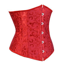 5b9a4c7f345 caudutas women s underbust corset bustiers floral gothic corset sexy  lingerie mini corset cupless vintage costume plus size red