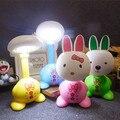 Кролик спальня ночники аккумуляторная мини складной СВЕТОДИОДНЫЕ лампы мультфильм Ночная творческий детского чтения