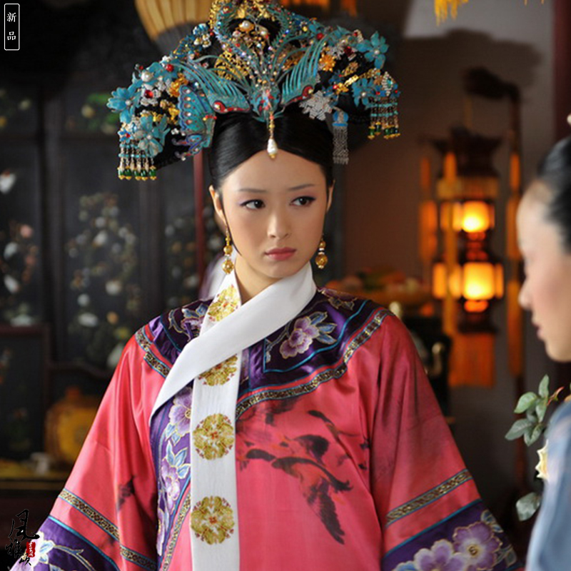 Princess Hua Fei Costume TV Play Legend Of Zhenhuan Delicate Embroidery Qing Dynasty Empress Princess Costume