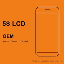 10 шт. OEM lcd для iphone 5S сборка экрана без битых пикселей с держателем камеры сенсорный экран для iphone 5S ЖК дигитайзер