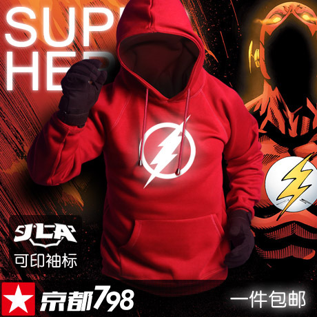 The Flash 2017 fashion mens hoodies luminous sportswear male sweatshirt tracksuits hoody clothing man plus size