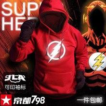 Die Flash 2017 mode mens hoodies leuchtsport männlichen pulli trainingsanzüge hoody kleidung mann plus größe XXXL