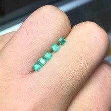 Высокое качество принцесса огранка изумруд Свободный Камень SI класс натуральный изумруд драгоценный камень 3 мм натуральный изумруд свободный драгоценный камень