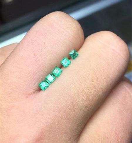 Di alta qualità della principessa taglio smeraldo di pietra allentati SI grado naturale smeraldo della pietra preziosa 3 millimetri naturale smeraldo allentati della pietra preziosa-in Perline da Gioielli e accessori su  Gruppo 1