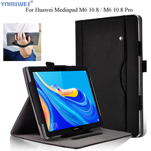 Tablet Cover for Huawei Mediapad M6 10.8 folio Stand Wallet Case Hand Holder For PRO VRD-L09 2019 Coque