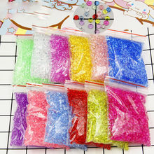 75g/bag 7mm Clear Slime Flat Bead Transparent DIY Handmade Crystal Mud Mixture Particles Accessories Slime Filling Decoration(China)