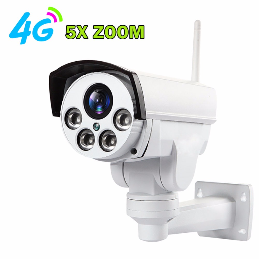 Surveillance IP Camera Outdoor HD 960P 1080P 3G 4G Wireless SIM Card Wifi CCTV Camera PTZ 5X Zoom Infrared Bullet Camera