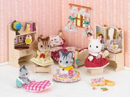 New kids pretend toys genuine sylvanian families girls for Sylvanian families beauty salon dressing table