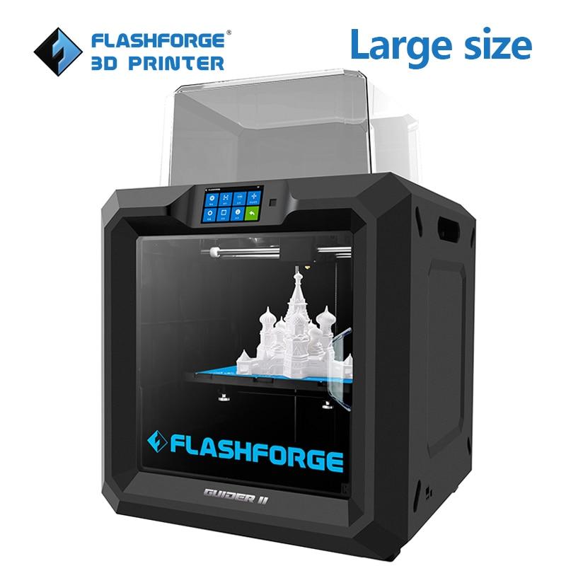 Flashforge Guider II 3d Imprimante construire volume 280*250*300mm grande taille 3D Imprimante Factory Outlet