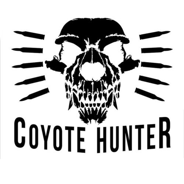 14 1cm11 8cm coyote hunter sticker predator varmint hunting die cut vinyl fun car