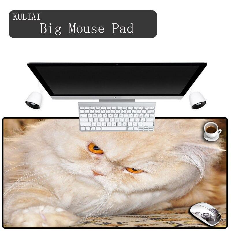 KULIAI New Persian Cat Desktop Keyboard Mouse Pad Laptop Radiator Mat Rubber Rectangle Precision Cuff Game Game MousePad Mats