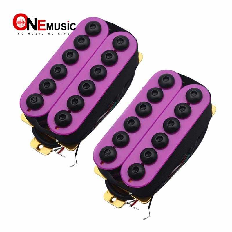 Color: Negro HONGIRT 2 Piezas de Cromo Doble Bobina Humbucker Pastillas Cuello y Puente para Pastillas de Guitarra el/éctrica LP Accesorios de Guitarra Profesional