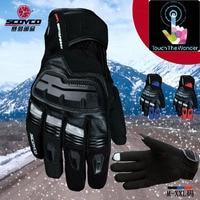 SCOYCO MC17B Motorcycle gloves ,warm /waterproof/ touch night reflective full finger Off road racing motorbike Glove M L XL XXL